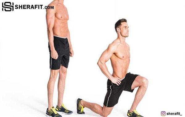 عضله سازی با تمرین لانچ