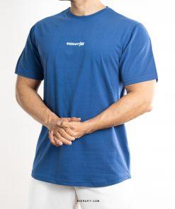 تیشرت آبی ساده